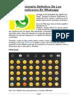 El Diccionario Definitivo de Los Emoticonos en Whatsapp