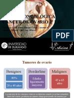 Cirugía Oncológica Cáncer de Ovario