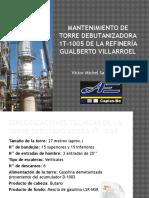 Mantenimiento de Torre Debutanizadora 1T-1005