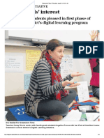 Digital Initiatie at Riverside - April 2014 Article
