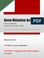 gene mutation activity olivia