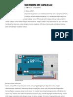 Sensor Suhu LM35 Dengan Arduino Dan Tampilan LCD