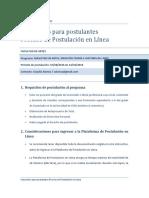 Instructivo de Postulacion Al Magister en Teoria e Historia Del Arte PDF 625 Kb