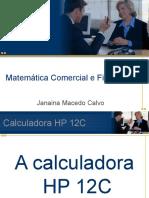 HP 12c Prof Janaina Calvo