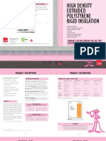 High Density Extruded PS Rigid Insulation