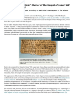 """""""Down the Rabbit Hole""""_ Owner of the Gospel of Jesus' Wife Papyrus Unmasked - Biblical Archaeology Society"""