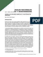 Aspectos Legales Nacionales en Comerc Io y Biodiversidad