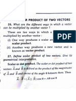 Scalar Dot Product Theory n Numericals