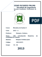 LAB 4 Evaluacion de La Estabilidad de Taludes.