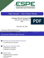 Ecuaciones Diferenciales Ordinarias Primer Orden - Exactas
