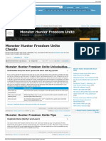 Monster Hunter Freedom Unite Cheats (PSP Cheats)