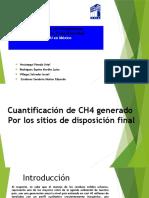 cuantificacion de ch4 generado por los sitios de disposicion final