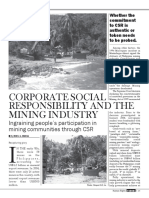 CSR and the Mining Industry