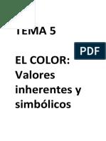 TEMA 5- EL COLOR