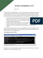 Uso de funciones PL/SQL en postgreSQL con C#