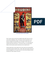 An Escape by the Great Houdini