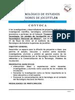 CONVOCATORIA Para El Coloquio 2016