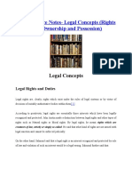 Jurisprudence Notes - Right Duties Owner Posses