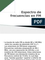 Espectro de Frecuencias en FM