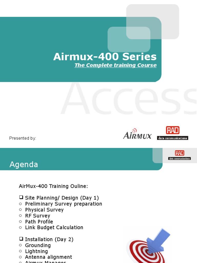 Airmux-400 Radio&Antenna Installation   Surveying   Electrical Connector