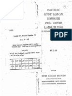 BS 52 1963 Specification for Bayonet Lamp-caps Lampholders & BC Adaptors (Lampholder Plugs)
