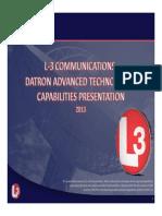Datron Capabilities 2013