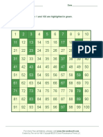 Printable Prime Number Chart