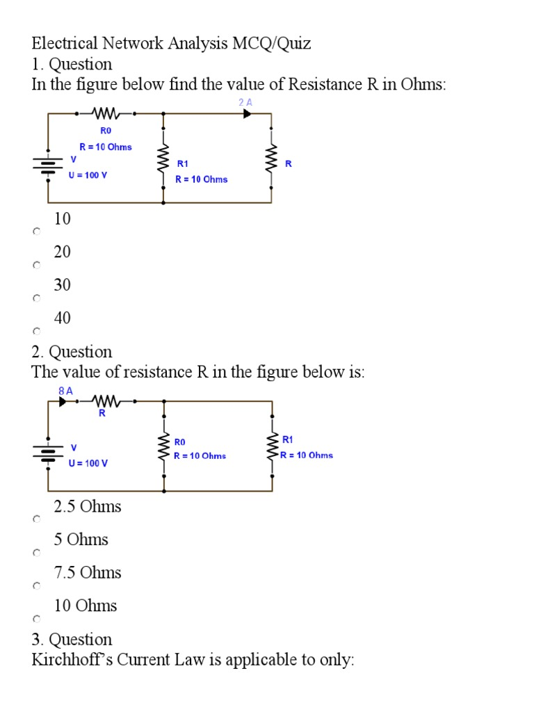 This Is The New Form Of Work Electrical Resistance And Kirchhoff39s Voltage Law Kvl Divider Circuits Laws Conductance Network