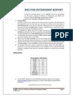 IAS PU Internship Report Format