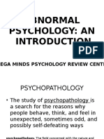 01 Abnormal Psychology