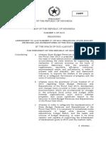 UU Nomor 3 Tahun 2015 Translate