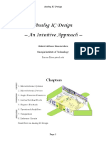 Chapters 1-2. Book Intro. - Microelectronic Devices an Intuitive Approach (Analog IC Design an Intuitive Approach)