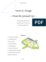 Chapters 1-2. Powering Microsystems and Analog ICs With Design Insight and Intuition (Power IC Design)