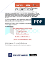 Time Response of Second Order Systems - GATE Study Material in PDF