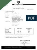 Certificate of Analysis - Epoxy Resin 128s-30!03!2010