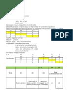 Simplex Method in Excel