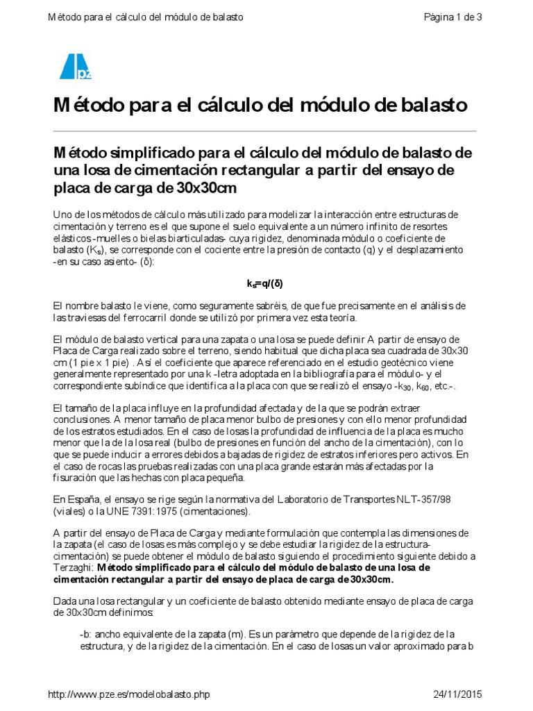 Modulo Balasto