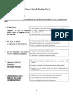 PET Reading Practice Tests Book 1