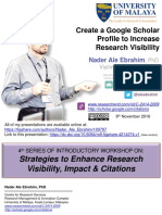 Create a Google Scholar Profile to Increase Research Visibility
