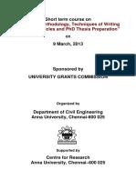 UGC Sponsored STC-Dept of Civil Engg-Brochure