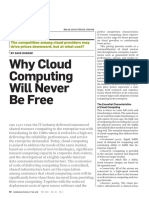 Why Cloud Computing Will Never Be Free