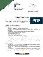 Tematica Si Bibliografia INCADRARE DIRECTA - Politie Rutiera