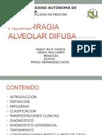 Hemorragia Alveolar Difusa