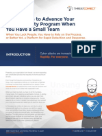 ThreatConnect 6 Easy Ways to Advance Your Cybersecurity Program 080416