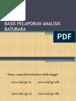 Basis Pelaporan Batubara