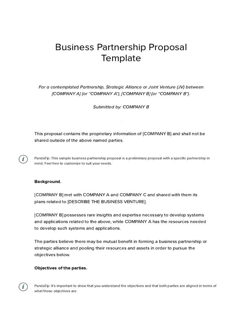 Business partnership proposal template download free samplepdf business partnership proposal template download free samplepdf ownership royalty payment wajeb Images