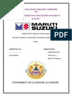 Marketing Strategy of Maruti Suzuki- Deepankti Sen