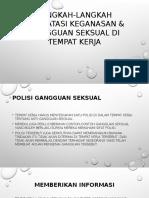 Langkah-langkah Mengatasi Keganasan & Gangguan Seksual Di Tempat