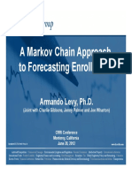 A Markov Chain Approach to Forecasting Enrollments Levy Et Al June 28 2012
