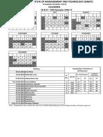 Academic Schedule of S5 S7 Odd Semester 2016 17[1]